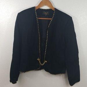 🆕Vintage Corey B crop jacket gold button close 12